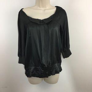 See by Chloe Blouson short sleeve gray blouse